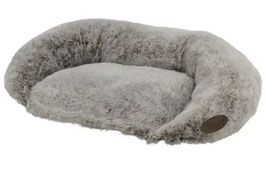 Hundesofa oval mit Rand Sellam grau