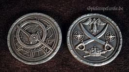 """LARP Spielmünzen """"Pirat"""" silberfarben, 30mm Durchmesser"""