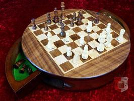 Schachkassette magnetisch, rund