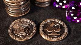 """Exklusiv bei uns! LARP Spielmünzen """"Spielerspelunke"""" kupferfarben, 25mm Durchmesser"""
