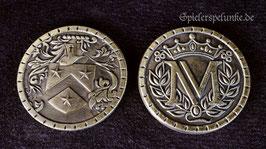 """LARP Spielmünzen """"Mittelalter"""" goldfarben, 30mm Durchmesser"""