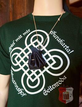 """Spiel-T-Shirt """"Surakarta"""" mit Spielsteinen im Ledersäckchen"""