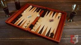 Backgammon Spielkassette Mahagoni