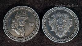 """LARP Spielmünzen """"Königsmünze"""" silberfarben, 30mm Durchmesser"""