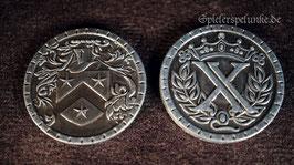 """LARP Spielmünzen """"Mittelalter"""" silberfarben, 30mm Durchmesser"""