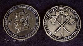 """LARP Spielmünzen """"Königsmünze"""" goldfarben, 30mm Durchmesser"""