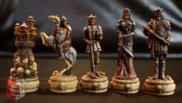 """Schachfigurensatz """"Gruselskelette"""" ohne Schachbrett"""