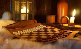 Lederspielrolle Schach, Dame, Backgammon, Ludus Latrunculorum