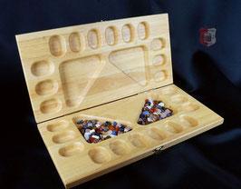 Kalaha Spielbrett für bis zu 4 Mitspieler, mit Halbedelsteinen