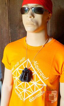 """Spiel-T-Shirt """"Alquerque"""" mit Spielsteinen im Ledersäckchen"""