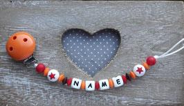 Nuggiketteli  Star orange/rot