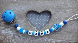 Nuggiketteli Locki dunkelblau/blau