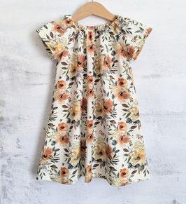 Jersey Dress Aquarell Blüten offwhite/rosé 86/92