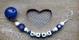 Nuggiketteli Krone dunkelblau/blau