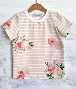 SALE Bio Basic Shirt Flowers apricot  98/104