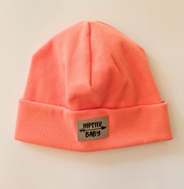 Beanie Hipster Baby coral 42-46cm