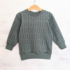 MIS HERZ Pulli Bars dusty mint 92/98