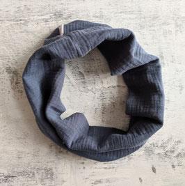 Loop aus Musselin Jeansblau ab 3J.