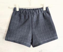 Bio- Shorts Cherimoya Fishbone blau/dunkleblau 50-104