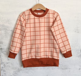 Sweater Grid apricot/rost 104