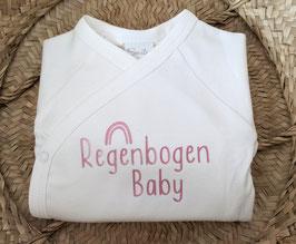 Body  Regenbogen Baby rosa silberglitzer/schwarz/gold