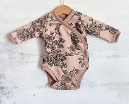 Wickel Body Kirschblüten puderrosa/schwarz 56