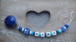 Nuggiketteli I LOVE DAD  dunkelblau/blau