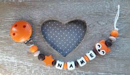 Nuggiketteli  Fuchs orange/braun/weiss