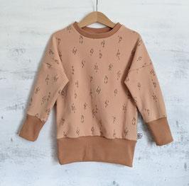 Sweater little Strips light caramel 104/110