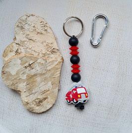 Taschen Anhänger Feuerwehrauto rot/grau/schwarz
