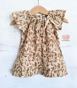 Musselin Dress Blossom beige/rosé 62/68 & 104
