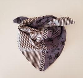 Halstüechli  graublau/schwarz ab 6Mt.