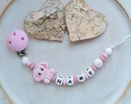 Nuggiketteli Elefäntli rosa/blush/weiss