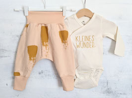Kuschelset KLEINES WUNDER Painted pastell apricot/gold 62