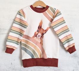 Bio- Sweater Eichhörndli rost/offwhite 98/104