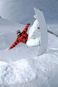 Glasbild Snowboard Quarter
