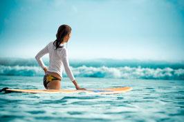 Glasbild Surfgirl