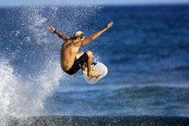 Glasbild Surfer Oop