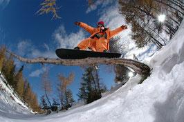 Glasbild Snowboard Slide