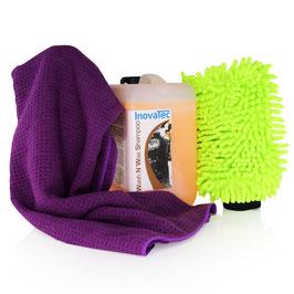5L Wash N Wax Shampoo Rasta Waschhandschuh Watermagn