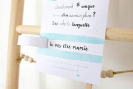 Bon Cadeau Bleu : Demande Témoin - Annonce grossesse - Annonce Mariage