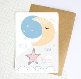Carte postale à gratter : La famille va s'agrandir !