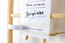 Carte Surprise jaune : Demande Témoin - Annonce grossesse - Annonce Mariage