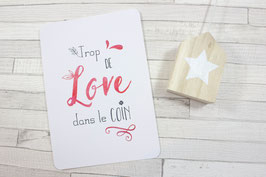 Carte postale : Trop de love dans le coin