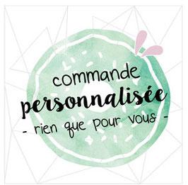 Commande personnalisée  - FP Sacha