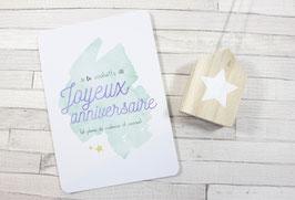 Carte postale : Joyeux Anniversaire (vert)