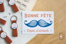 Carte Postale : Bonne fête papa d'amour !