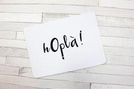 Carte postale : hOplà !