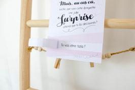 Carte Surprise Rose : Demande Témoin - Annonce grossesse - Annonce Mariage