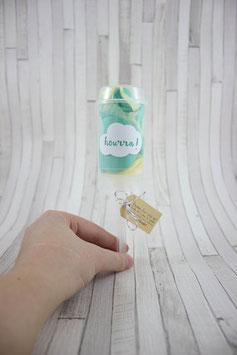 Push-pop - Vert d'eau et jaune